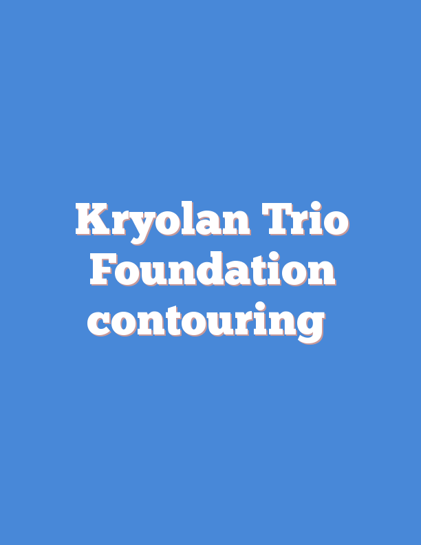 Kryolan Trio Foundation contouring